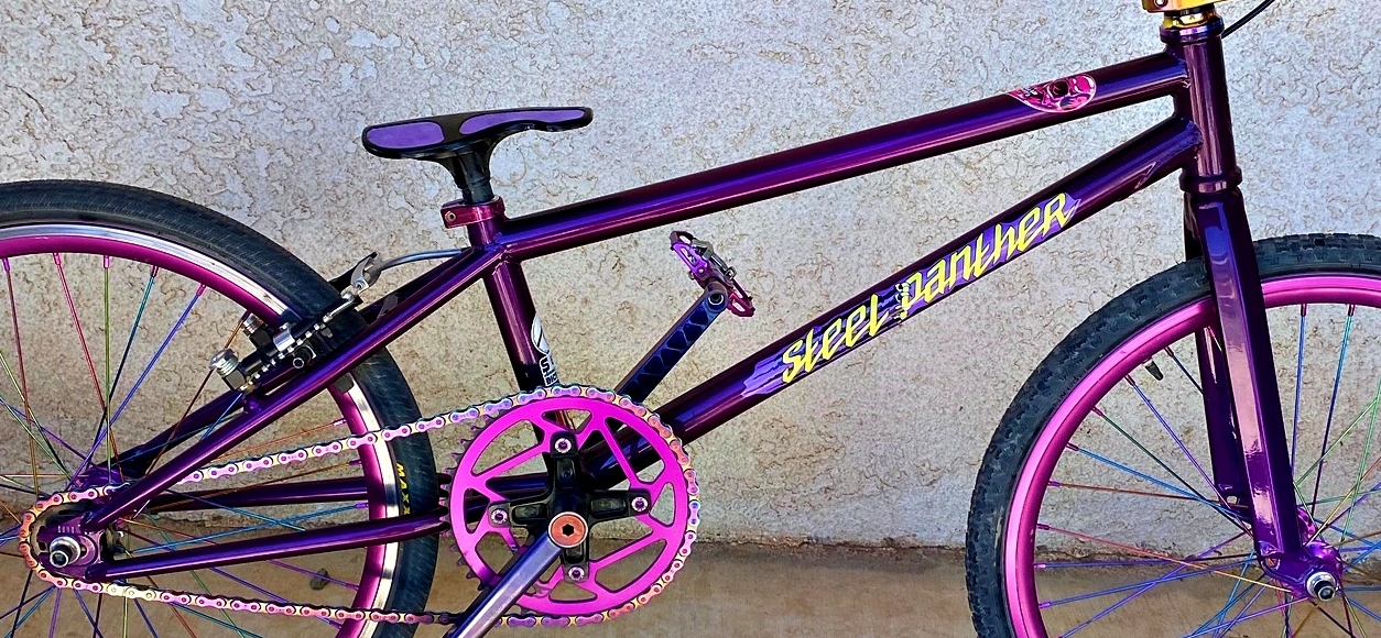 s&M Steel panther bmx race bike