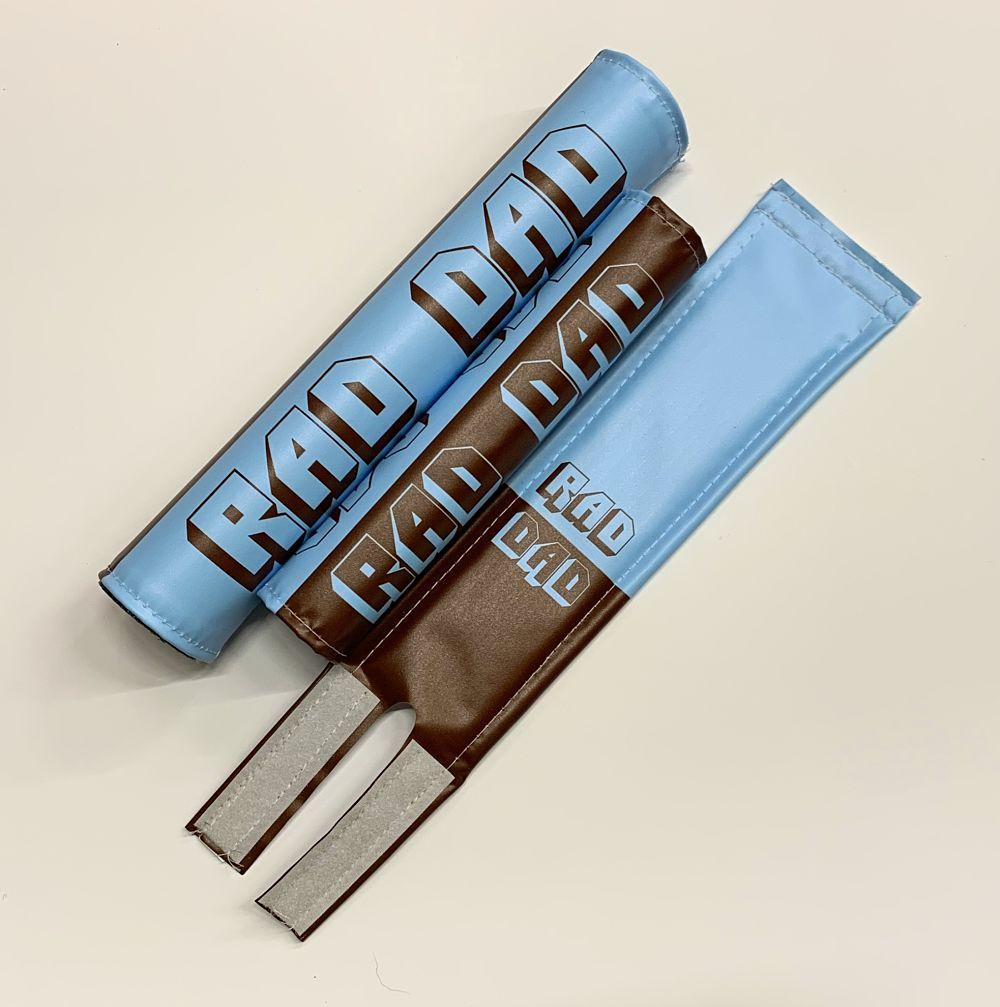 rad dad bmx pads blue brown