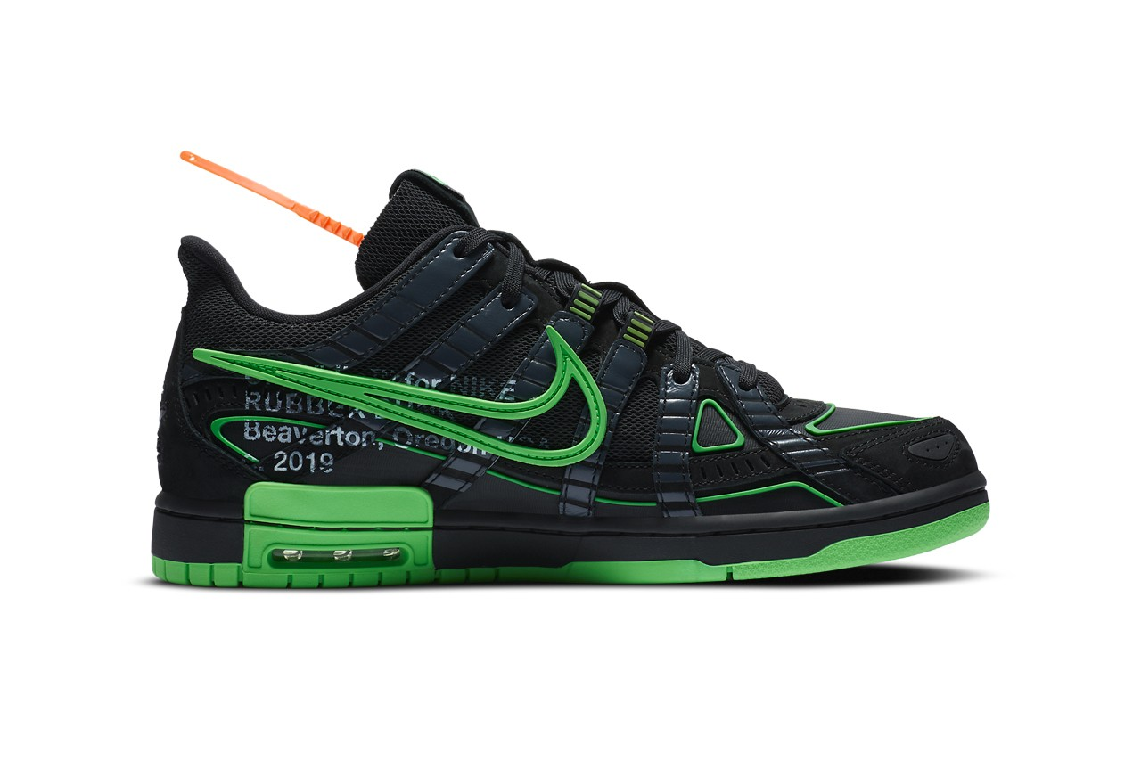nike off white green strike