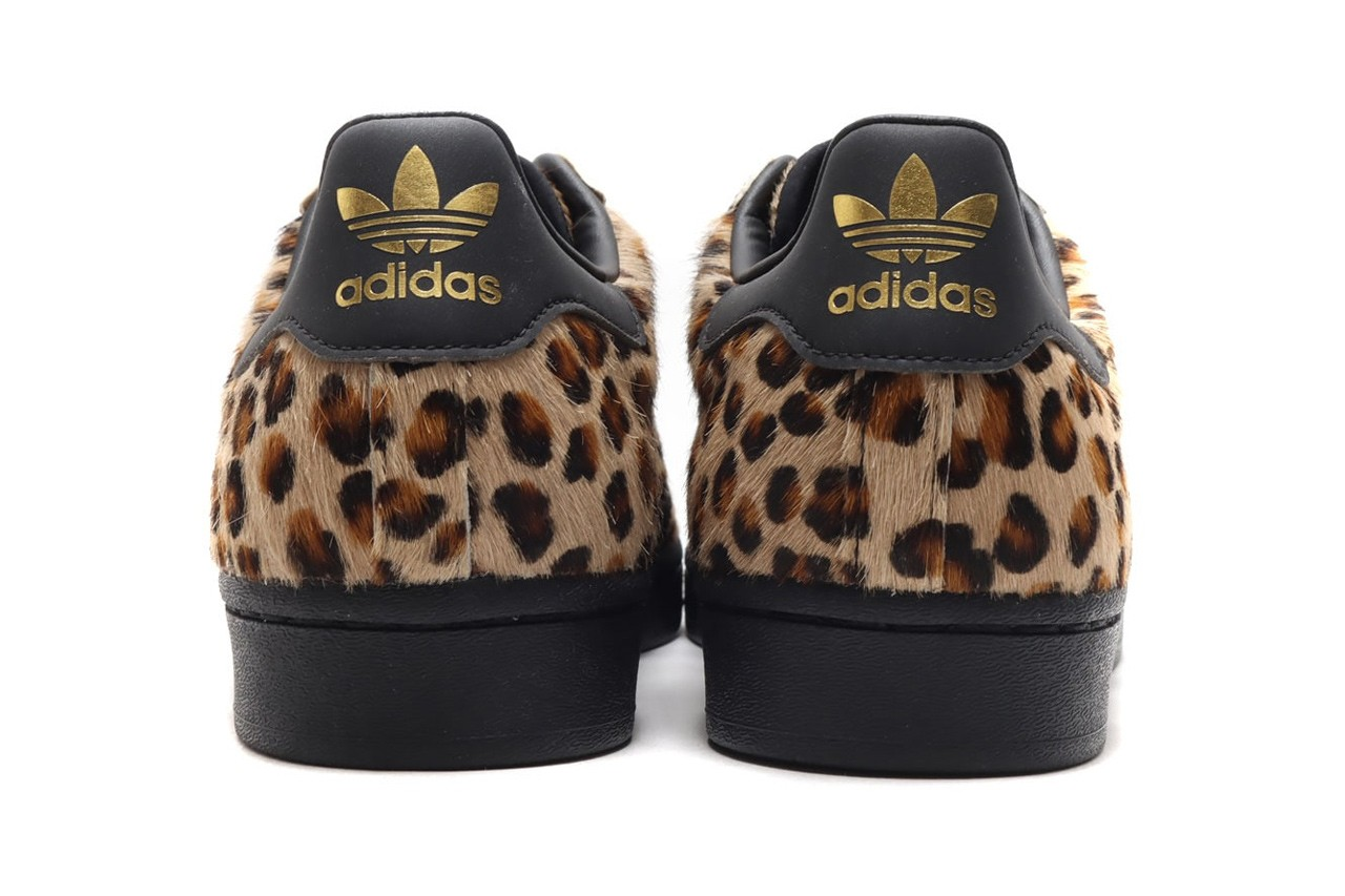 Adidas superstars leopard print