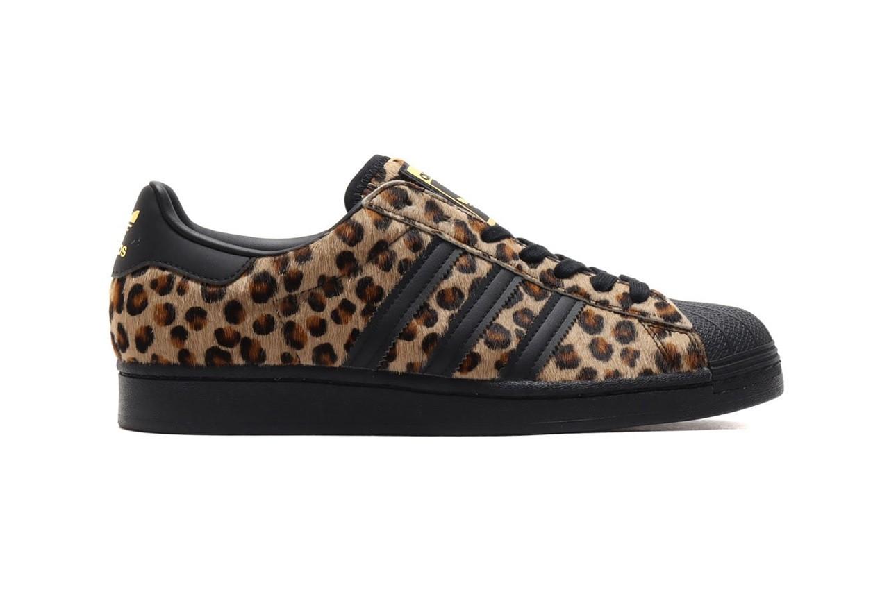Adidas superstars leopard print sneakers