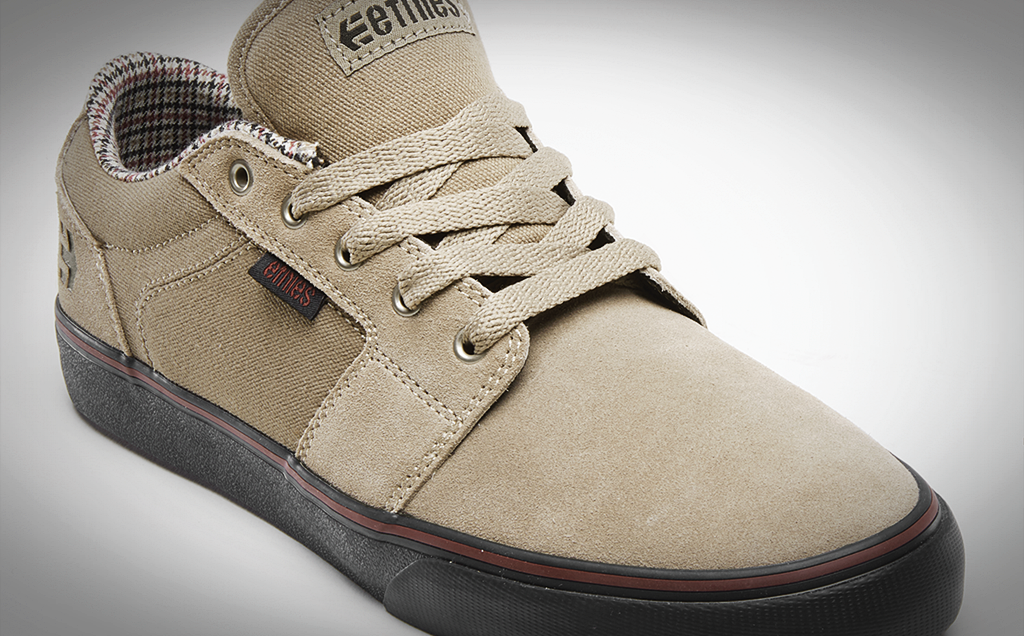 etnies barge tan black