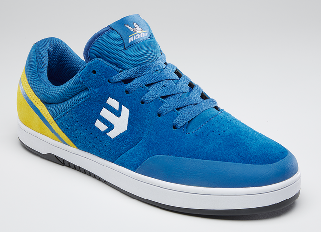 etnies marana blue yellow sneakers