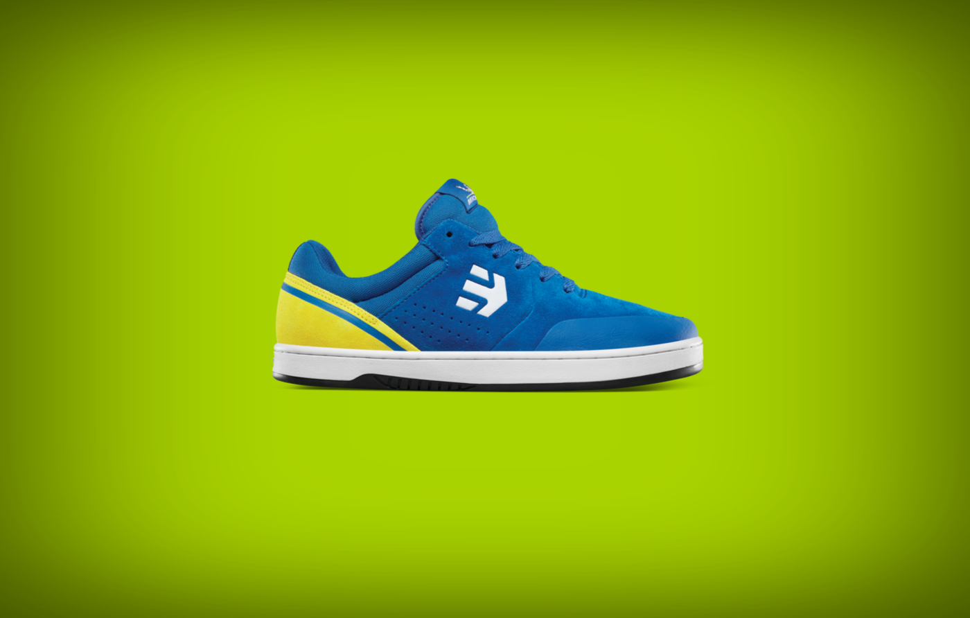 etnies marana sneakers blue yellow