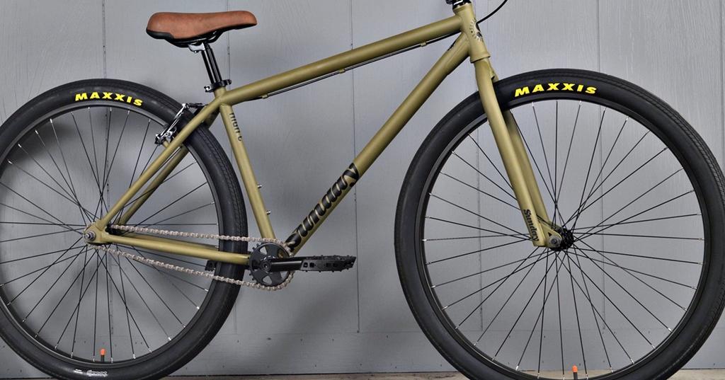 sunday high c bmx bike matte green