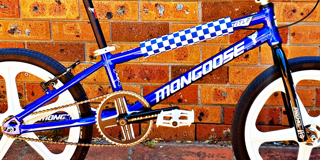 mongoose title pro blue bmx bike