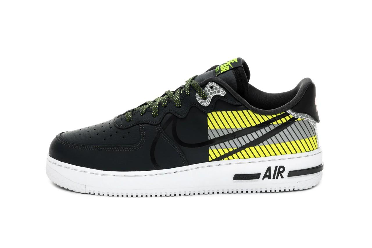 "3M x Nike Air Force 1 React LX ""Volt"" Collaboration Kicks"