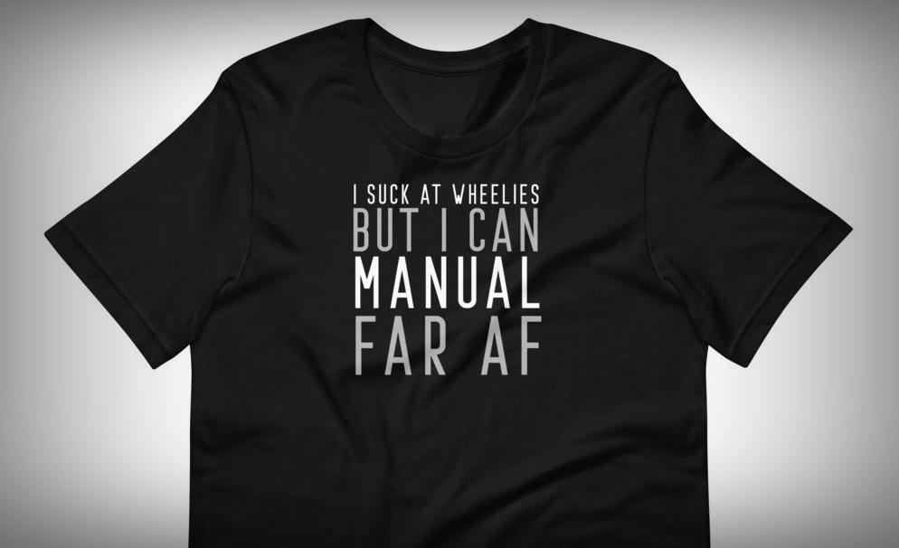 i suck t wheelies t-shirt