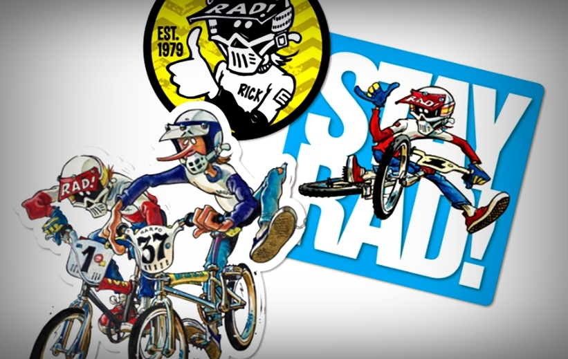 radical rick bmx stickers