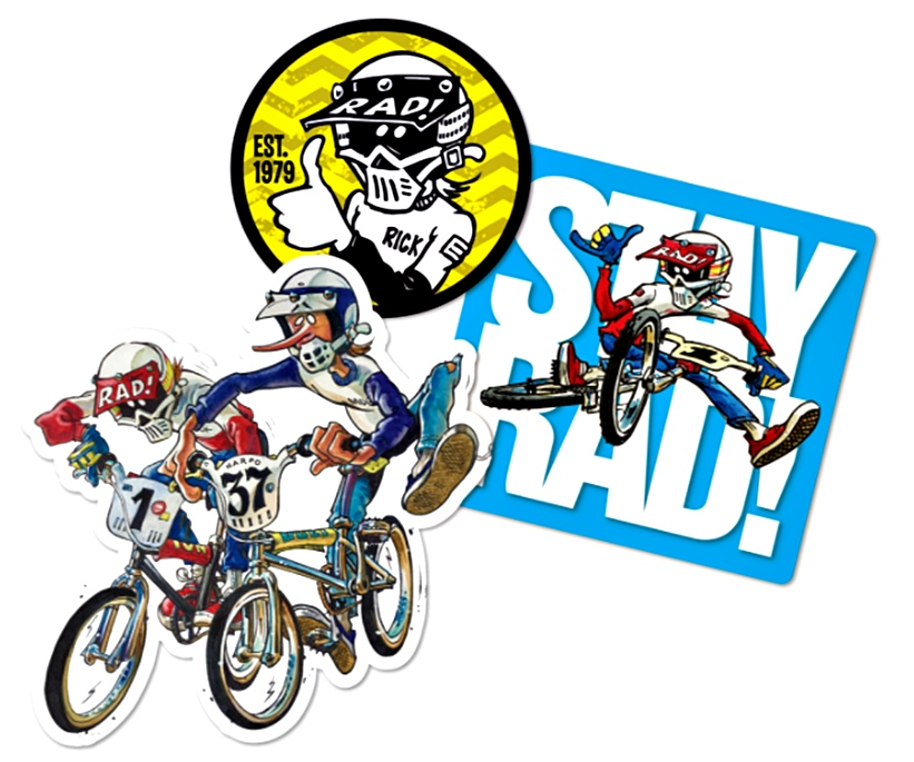 Radical Rick BMX Sticker Pack