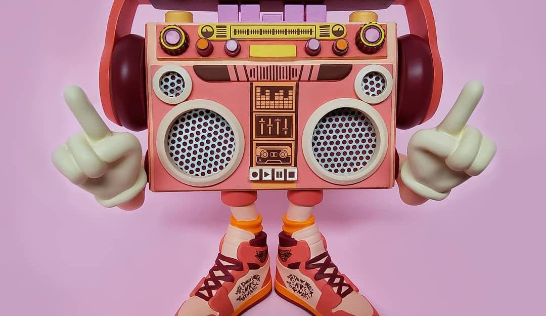 boombox macaron art toy