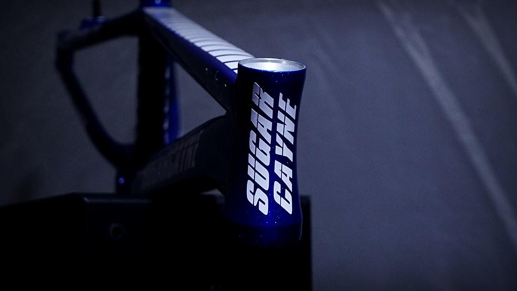 sugar cayne bmx race frame blue