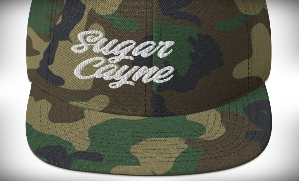 sugar cayne camo snapback