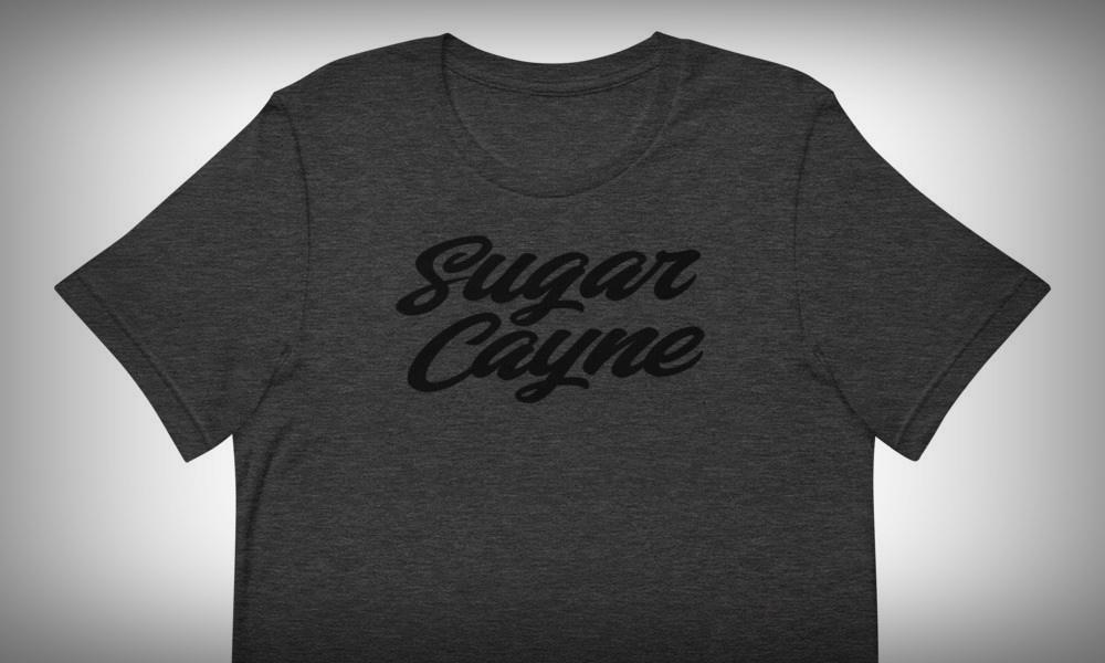 classy black on grey t-shirt