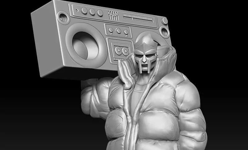 mf doom puffy jacket figure