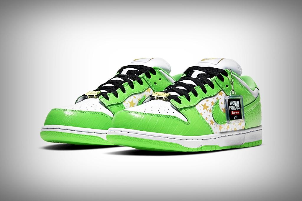 nike supreme mean green SB dunk low