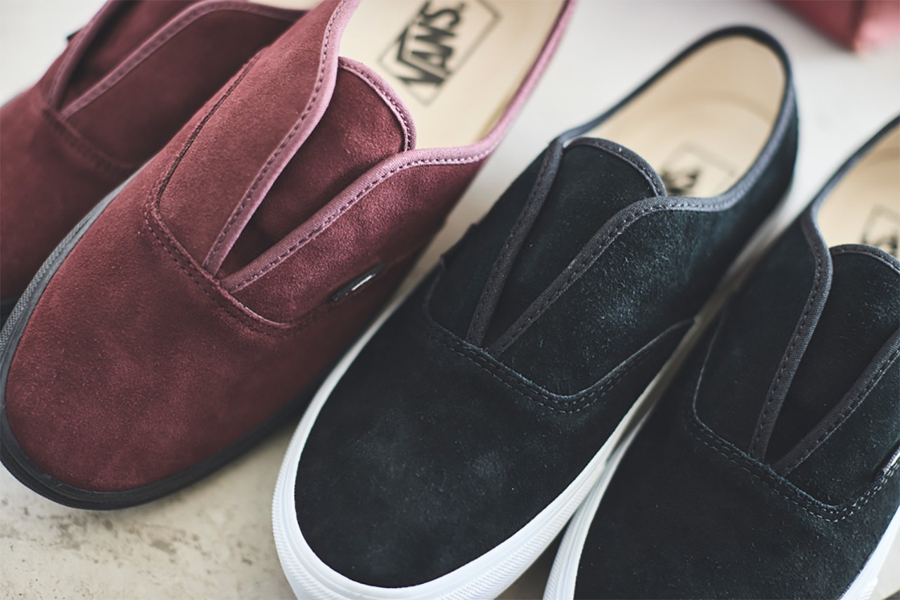 vans slip on black burgundy