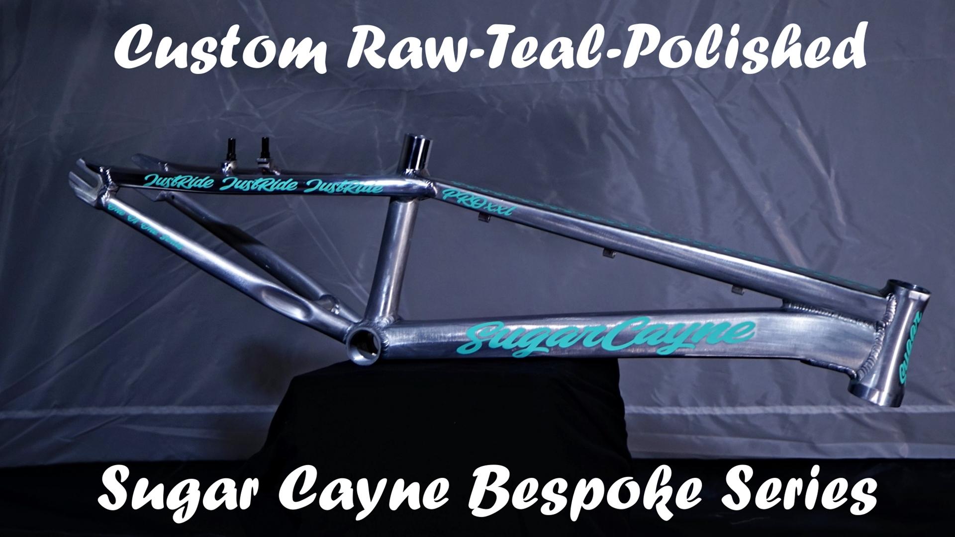 Sugar Cayne Teal Raw Besopke frame