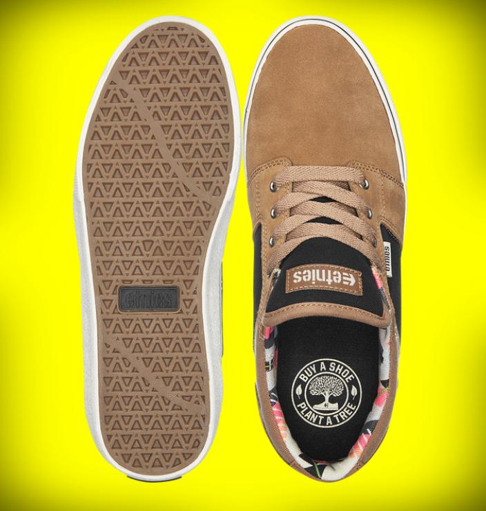 etnies barge sneakers top bottom