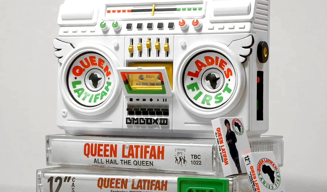 queen latifah art toy boom box