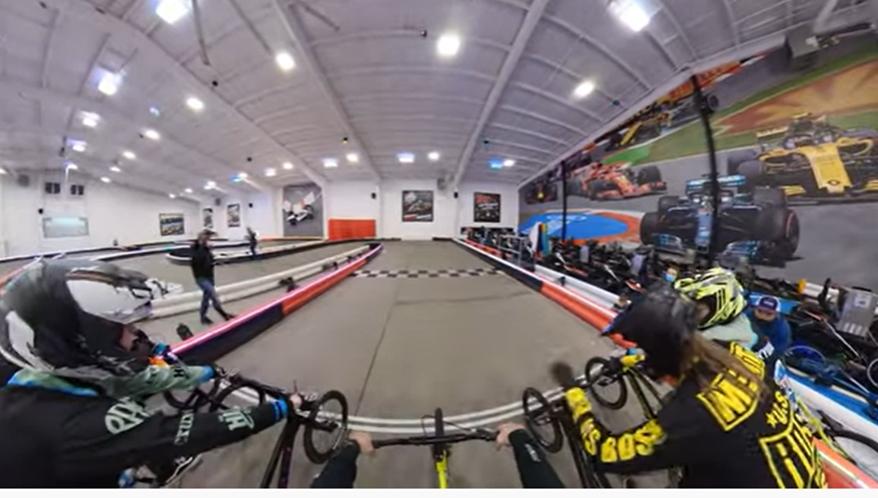 indoor bmx, go kart track