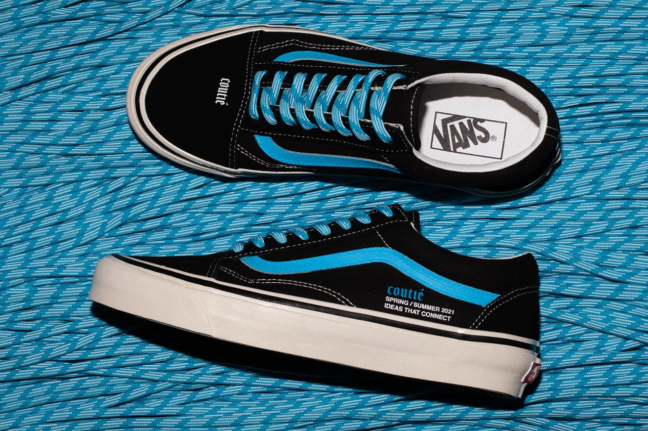 vans black and baby blue sneakers