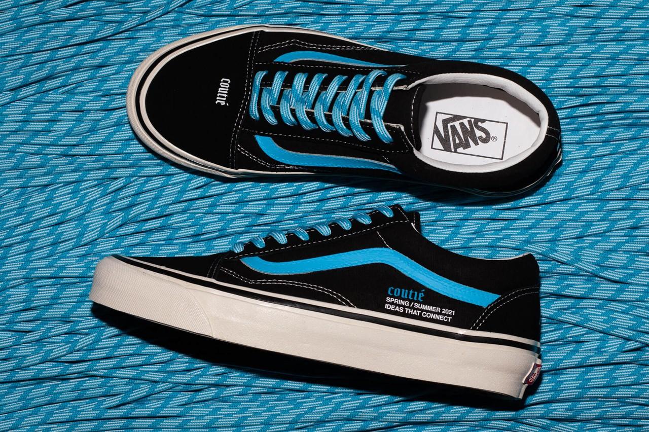 vans black and baby blue sneakers