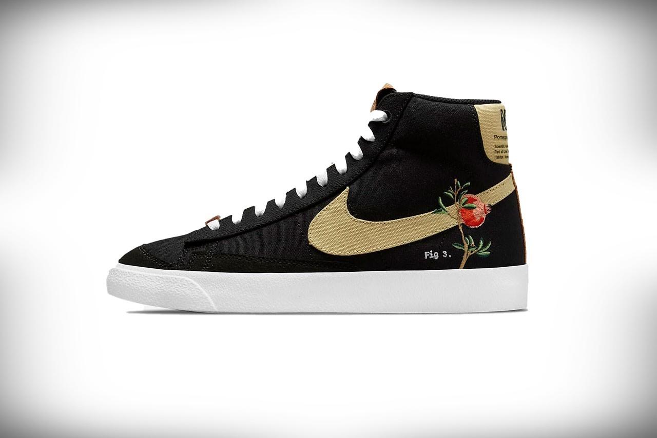 nike floral mid 77 sneakers