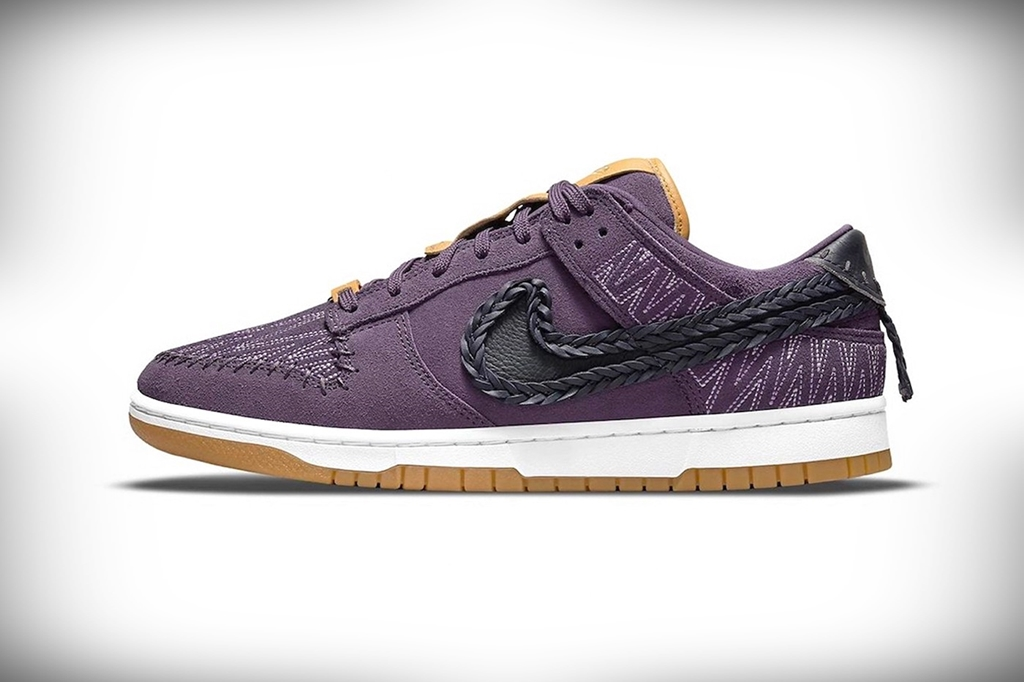 nike n7 dunk low dark raisin