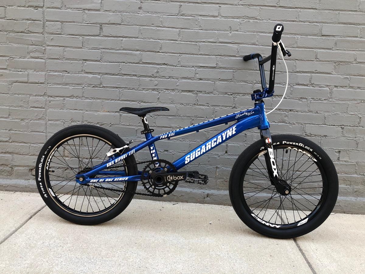 sugar cayne bmx frame custom blue