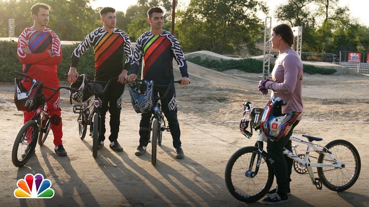 jonas brothers BMX racing