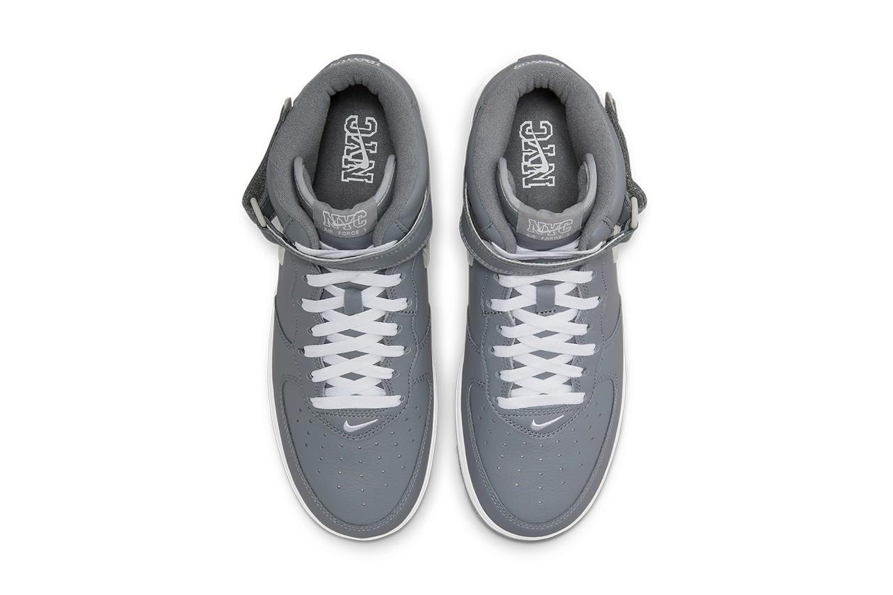 grey nike af1's