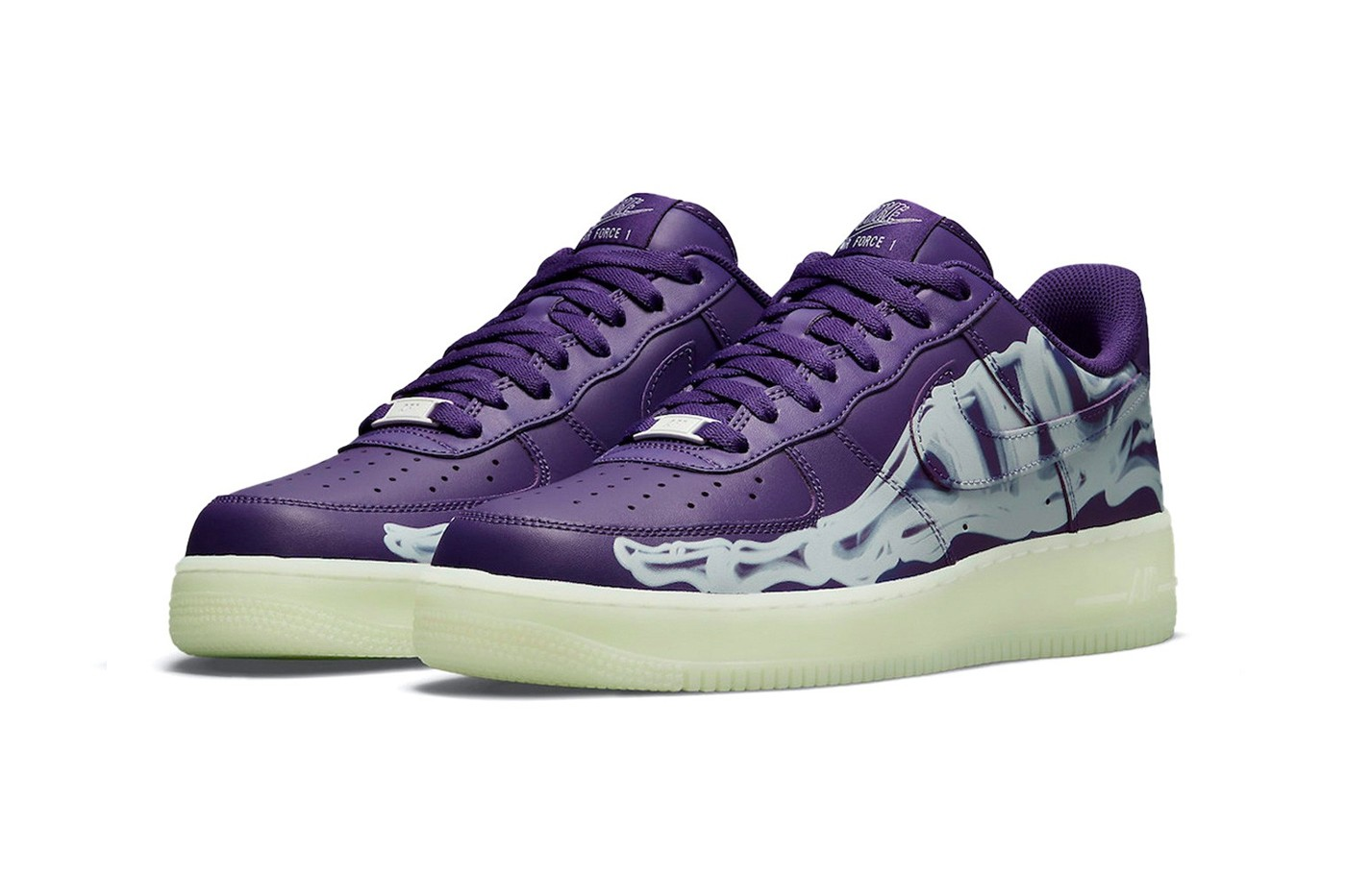 nike air force 1 purple patch