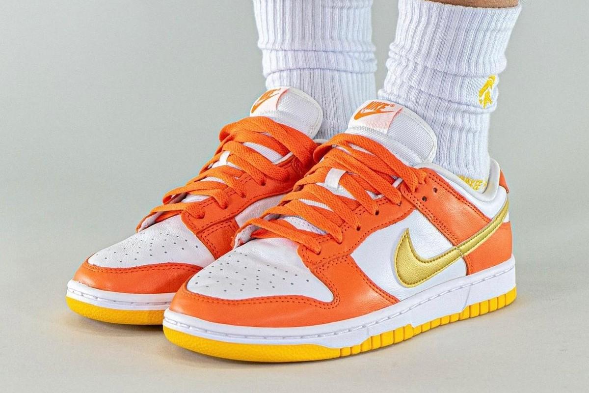 gold orange nike dunk low